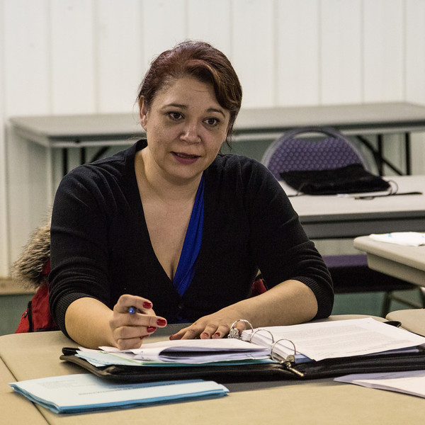 Introudction to Negotiations Workshop presented by Moosonee lawyer Mary Chakasim as part of Annual General Meeting of Keewaytinok Native Legal Services. Mary Chakasim.
