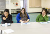 Introudction to Negotiations Workshop presented by Moosonee lawyer Mary Chakasim as part of Annual General Meeting of Keewaytinok Native Legal Services. Heather Faries, Lydia Lehoux, Carmen Cheechoo.