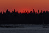 Sky across the Moose River from Moosonee just before sunrise.