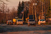 Sewer work on Revillon Road in Moosonee shortly after sunrise.