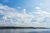 Clouds over the Moose River. Polarizer does little when parallel to the light.