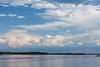 Clouds over the Moose River, looking across the river from Moosonee.
