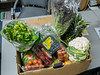 Box of fruit and vegetables from the Moosoneee Farmers' Market. Cost $50.00