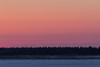 Sky at sunrise across the Moose River from Moosonee.