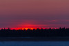 Sunrise across the Moose River from Moosonee.
