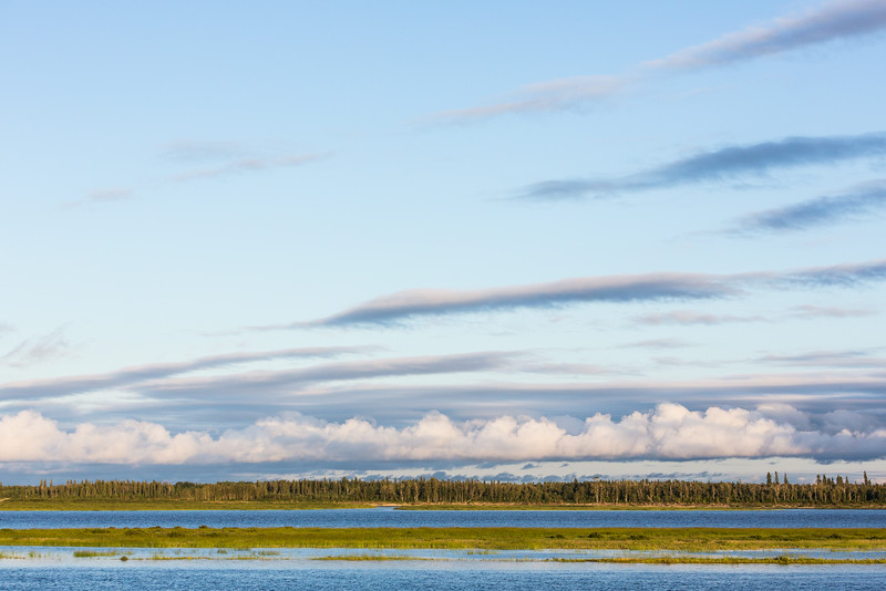 Clouds across the Moose River.