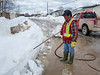 Town of Moosonee thawing out drains with steam.