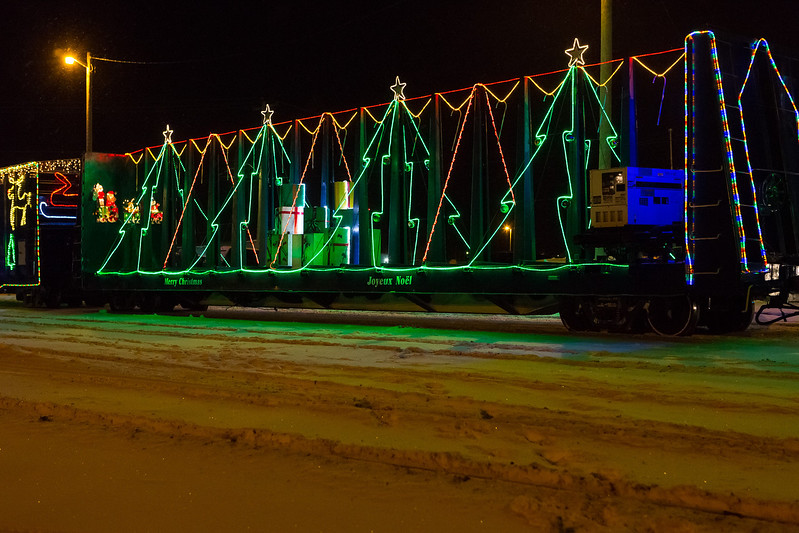 Christmas Train in Moosonee.