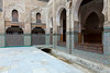 Interior courtyard of a Quaranic school in the medina, old city of Fes, Morocco.