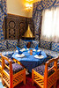 Moroccan architecture in the restaurant at the Hotel Kasbah Asmaa in Midelt, Morocco.