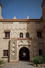 Exterior of the Hotel Kasbah Xaluca in Erfoud, Morocco.