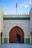 The entrance gate to the Shrine of Moulay Ali al-Sharif, Tafilalt Oasis, Morocco.