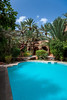 The pool area of the Hotel Riad Lamane in Zagora, Morocco.