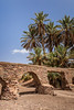 An abandoned aqueduct in the desert near the village of Tinzouline, Morocco.
