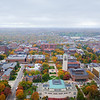 View of University of Michigan's Central Campus and Ann Arbor in the Fall