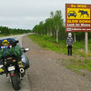 In over 900km, we each saw one moose (two total).