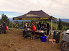 I-90 BBQ on top of Quartz Mountain the food