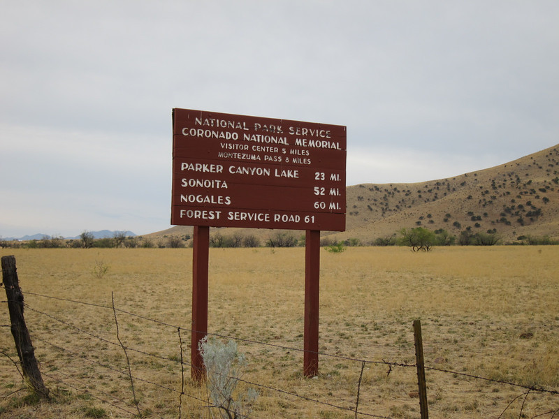 The first 20 miles of today's trip will take me through the Coronado Memorial. It is the route he took, looking for the city of gold (Cibola). It is a beautiful primitive area along the Mexico border.
