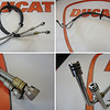 DUCATI OILCOOLER (OIL COOLER) MULTISTRADA 1200 - DELIVERY & RETURN BRAIDED HOSES / PIPES 54910952A & 54911012A
