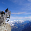 The air gets pretty thin here at 12,000+ feet, climbing the observation deck Aiguille du Midi, Chamonix - France