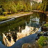 El Capitan reflection in Merced River