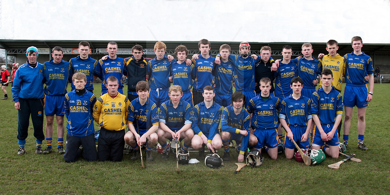 030814  Munster Colleges Senior B' Hurling Final  Colaiste Phobal Roscrea v Cashel Community School.     The Cashel Community School team before their clash with Colaiste Phobal Roscrea .  Photo Andy Jay.