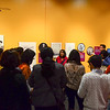 Docent-led tour of Beyond Bollywood exhibition at the  National Museum of Natural History Washington DC March 2014.