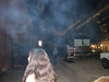 There seemed to a lot of smoke clouds wherever we went at this venue.