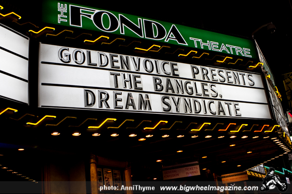 The Bangles - Three O'Clock - Dream Syndicate- Rain Parade – at The Fonda Theatre – Los Angeles, CA – December 6, 2013