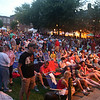 Crowd waiting to hear Barenaked Ladies perform at Boarding House Park in Lowell Summer Music Series. (SUN/Julia Malakie)