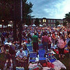 Panoramic view of crown waiting for Barenaked Ladies to perform at Boarding House Park in Lowell Summer Music Series. (SUN/Julia Malakie)
