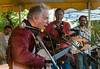 Stephan Crump, David Amram, Tom Chapin and Tao Seeger, Clearwater Festival 2011.