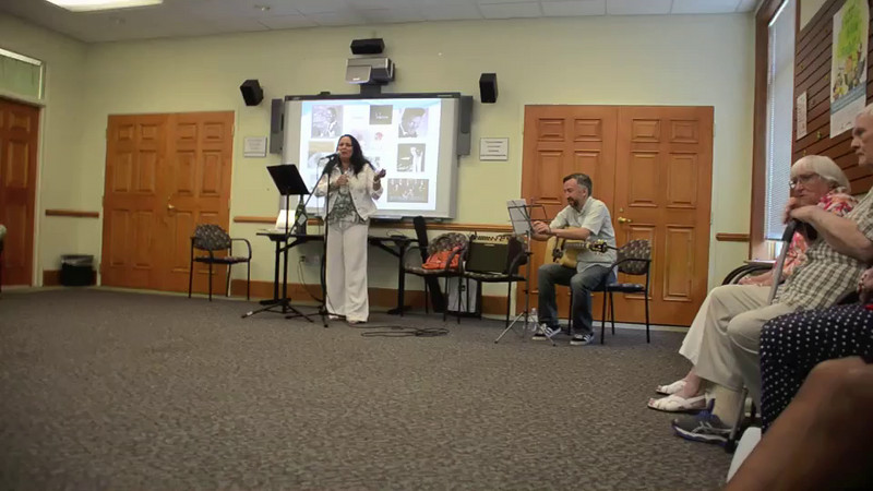 "VIDEO:  Ana Lucia Divins and Carlos Crespo present ""Traveling Through Latin America with Music"" at the Matthews Public Library 7-12-14.<br /> A little history and a taste of ""Boleros"" music"