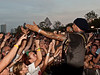 Michael Franti into the crowd<br /> at the Austin City Limits Music Festival 2009<br /> Dell Stage, 7:00 - 8:00 PM, Sunday, October 4, 2009 <br /> Photos Courtesy of Sean Murphy © 2009