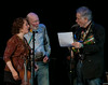 Lisa Gutkin, Pete Seeger and David Amram.