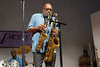 Saxophonist Dohn Nunley channeling Rashan Roland Kirk at Westminster Presbyterian Church, Washington, DC, August, 2012.