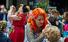 Hair and Beauty Salon at the Vintage Festival in Merchant City, Glasgow - 27 July 2014