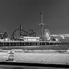 Day 295 - Pleasure Pier<br /> Sat. Oct. 18, 2014<br /> <br /> I have been challenged by Kristan Dunlap from K Dunlap Photography,  to post a black and white image each day for the next five days. Each day that I post, I will be passing the challenge along to another photographer.<br /> <br /> My FIRST post in this series is the new Galveston Island Historic Pleasure Pier that was built 1,130 feet (340 m) out over the Gulf of Mexico waters.  <br /> <br /> Originally built in the late 1940's as a recreational facility for the military, the Pier was turned over to the city after World War II and named Pleasure Pier. The Pleasure Pier operated as an iconic family destination until 1961, when Hurricane Carla hit Texas (source: Galveston.com).<br /> <br /> I now nominate Shelly Porsch Chetty to step up to the challenge. I know she will come up with some awesome images!