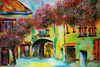 PASSING THROUGH PROVENCE (Colored pencil and wax pastels on paper 24x36)