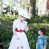 The kids reluctantly met Mary Poppins. You can tell from their faces they are miserable.