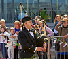 Lone Piper Stuart McMillan MSP Played The Skye Boat Song as the Boats were Scattered in the River Clyde - 31 August 2013