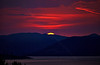 Cowal Hills Sunset from Langbank - 20 April 2014