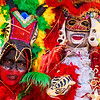 Fancy masks at Batalla de Flores 2013