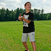 Nicholas Markessinis gives a heave on the line to launch his water rocket