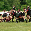 Saratoga Women's rugby goes in a scrum against Union