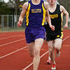 Adam Custer leads two others during the 1500 meter.