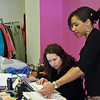 Mia True works with Mary Tipton during the set up of True's new shop in Ballston Spa.