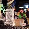 Ballston Spa Middle School Students plug their up coming performance of Beauty and the Beast with their float in the annual Holiday Parade Friday. Photo By Eric Jenks 12/3/10