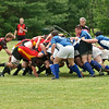 Saratoga Mens Rugby in a scrum against Albany Knicks
