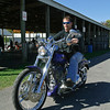Tom Plummer rides his bike during the Goatbrothers Swapmeet. Photo By Eric Jenks